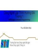 Tài liệu Công nghệ lập trình hứơng đối tượng_ Chương 1 docx