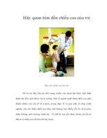 Tài liệu Hãy quan tâm đến chiều cao của trẻ pdf