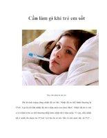 Tài liệu Cần làm gì khi trẻ em sốt ppt