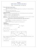 Tài liệu Toán giải tích - Kiến thức cơ bản doc