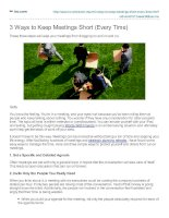 3 Ways to Keep Meetings Short (Every Time)