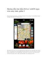 Tài liệu Hướng dẫn tìm hiểu Driver webOS ngay trên máy tính- phần 2 doc