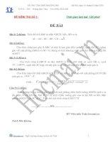 Tài liệu Đề và đáp án thi thử đại học môn Toán 2010_Đề số 1 doc
