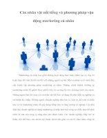 Tài liệu Các nhân vật nổi tiếng và phương pháp vận động marketing cá nhân pdf