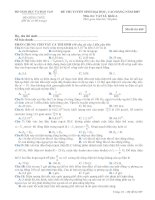 Tài liệu Đề thi Vật Lý 689 Khối A năm 2007 docx