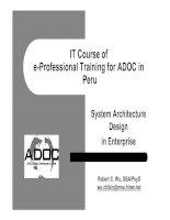 Tài liệu System Architecture Design in Enterprise docx