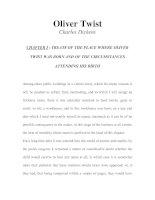 Tài liệu LUYỆN ĐỌC TIẾNG ANH QUA TÁC PHẨM VĂN HỌC-Oliver Twist -Charles Dickens -CHAPTER I docx