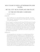 BÁO cáo đồ án môn lập TRÌNH HưỚNG đối TưỢNG
