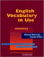 Tài liệu Cambridge - English Vocabulary in Use - Elem 1st Ed doc