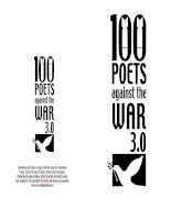Tài liệu 100 poets against the war 3.0 pdf