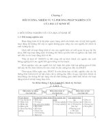 Tài liệu Chương 1: Đối tượng, nhiệm vụ và phương pháp nghiên cứu của Địa lý Kinh tế pptx