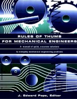 Tài liệu Rules of Thumb Mechanical Engineers P1 pptx