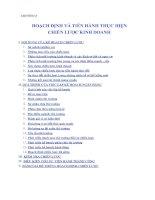 Tài liệu CHƯƠNG 8 HOẠCH ĐỊNH VÀ TIẾN HÀNH THỰC HIỆN CHIẾN LƯỢC KINH DOANH pdf