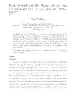 """Đảng bộ thành phố hải phòng lãnh đạo thực hiện chính sách xã hội hóa giáo dục (1996   2009)"""""""