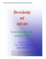 Tài liệu Làm thế nào để phát triển và thực hiện ý tưởng pdf