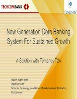 Tài liệu T24 – Giải pháp ngân hàng trung tâm thế hệ mới đối với phát triển bền vững - New Generation Core Banking System For Sustained Growth pdf
