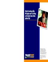 Tài liệu Sách hướng dẫn để giúp quí vị sống với bệnh tâm thần phân liệt docx