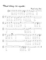 Tài liệu Bài hát thuở bống là người - Trịnh Công Sơn (lời bài hát có nốt) ppt