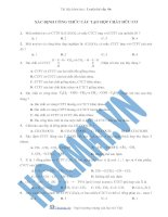 Tài liệu (Luyện thi cấp tốc Hóa) Trắc nghiệm và đáp án Xác định công thức cấu tạo theo tính chất đặc trưng docx