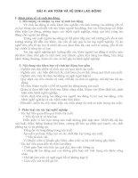 Tài liệu BÀI 4: AN TOÀN VÀ VỆ SINH LAO ĐỘNG ppt