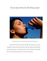 Tài liệu Tại sao phụ nữ hay bị viêm bàng quang? ppt