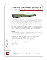 Tài liệu HiGain® Retrofit Management Shelf (HRM-238) Manages up to 56 HDSLx Circuits from One Stand-Alone Shelf pptx