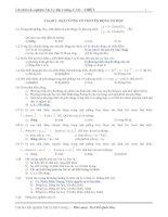 Tài liệu Câu hỏi trắc nghiệm Vật Lý Đại Cương 1: CƠ - NHIỆT pptx