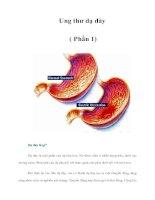 Tài liệu Ung thư dạ dày ( Phần 1) pdf