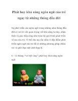 Tài liệu Phát huy khả năng ngôn ngữ của trẻ ngay từ những tháng đầu đời pdf