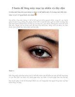 Tài liệu 5 bước để lông mày mọc tự nhiên và dày dặn ppt