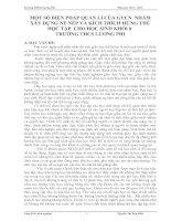 MỘT SỐ BIỆN PHÁP QUẢN LÍ CỦA GVCN  NHẰM XÂY DỰNG NỀ NẾP VÀ KÍCH THÍCH HỨNG THÚHỌC TẬP  CHO HỌC SINH KHỐI 8 TRƯỜNG THCS LƯƠNG PHI