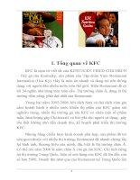 Tài liệu Tìm hiểu chiến lược phát triển của KFC tại Việt Nam pdf