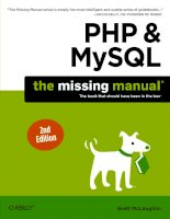PHP and MySQL the missing manual second edition