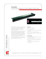 Tài liệu ADC KRONE - Datasheet - Cat 6 - Patch Panel - with Physical Layer Mgmt pdf