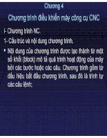 Tài liệu Chương 4 Chương trình điều khiển máy công cụ CNC doc