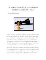 Tài liệu CÁC PHƯƠNG PHÁP SỬ DỤNG ĐỐI VỚI CÁC ĐỐI THỦ CẠNH TRANH – Phần 1 ppt