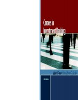 Tài liệu Careers in Investment Banking WetFeet Insider Guide 2005 Edition docx