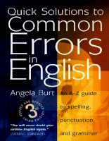 Tài liệu Common erros in English part 1 doc