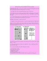 Tài liệu Hướng dẫn cách ghi phiếu trả lời trắc nghiệm doc
