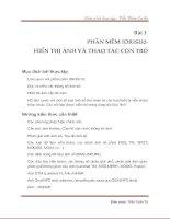 Tài liệu Giáo trình thực tập - Viễn Thám Cơ Sở - Bài 1 docx