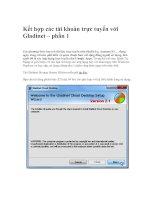 Tài liệu Kết hợp các tài khoản trực tuyến với Gladinet – phần 1 ppt