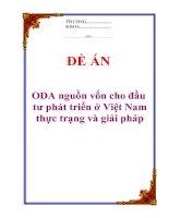 """Tài liệu Đề án """"ODA nguồn vốn cho đầu tư phát triển ở Việt Nam - thực trạng và giải pháp"""" pptx"""