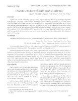 Tài liệu Ung thư lưỡi: Dịch tễ,chẩn đoán và điều trị docx
