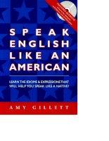 Tài liệu Speak EnglishL Like An American docx