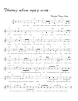 Tài liệu Bài hát thương nhau ngày mưa - Nguyễn Trung Cang (lời bài hát có nốt) docx