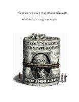 Tài liệu Đổi những cú nhắp chuột thành tiền mặt: kết thúc bán hàng trực tuyến pdf