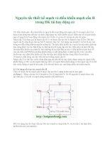 Tài liệu Nguyên tắc thiết kế mạch và điều khiển mạch cầu H trong ĐK tải hay động cơ pptx