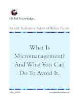 Tài liệu What Is Micromanagement? And What You Can Do To Avoid It. docx