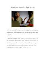 Tài liệu 10 thói quen của những vị sếp kém cỏi pdf