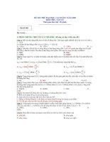 Đề thi và hướng dẫn giải đề đại học môn vật lý